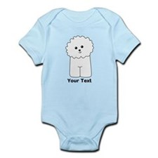 Bichon Frise Dog. Custom Text. Body Suit