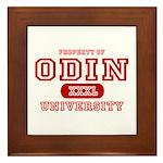 Odin University T-Shirts Framed Tile