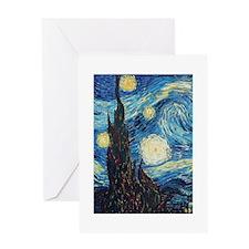 Van Gogh Starry Night Impressionist Greeting Card