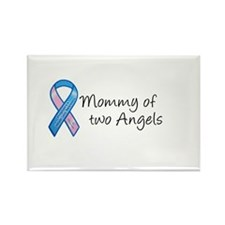 Mommy of Two Angels Rectangle Magnet (10 pack)