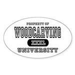 Woodcarving University Oval Sticker