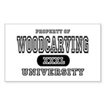 Woodcarving University Rectangle Sticker
