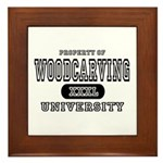 Woodcarving University Framed Tile