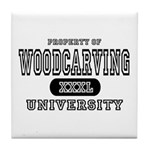 Woodcarving University Tile Coaster
