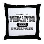 Woodcarving University Throw Pillow