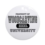 Woodcarving University Ornament (Round)
