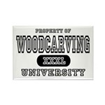 Woodcarving University Rectangle Magnet