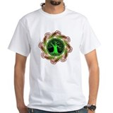 Celtic Tree Illuminated-green Basic Shirt