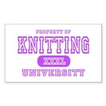 Knitting University Rectangle Sticker