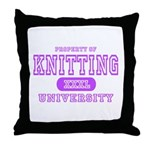 Knitting University Throw Pillow