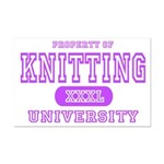 Knitting University Mini Poster Print