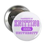 Knitting University Button