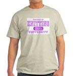 Knitting University Ash Grey T-Shirt
