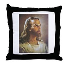 Portrait of Jesus Throw Pillow