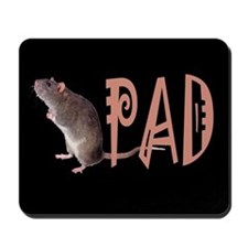 Gray mouse (rat) Mousepad