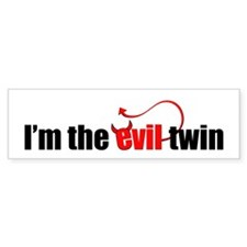 Evil Twin Bumper Bumper Sticker