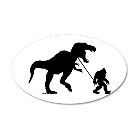 Gone Squatchin with T-rex Wall Decal