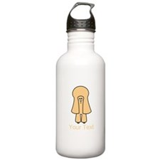 Apricot Toy Poodle Dog and Text. Water Bottle