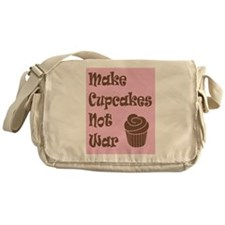 Make Cupcakes Not War Messenger Bag