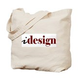 I &quot;Design&quot; (red) Tote Bag