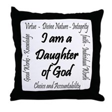 I Am a Daughter of God Throw Pillow