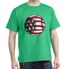 USA Stars and Stripes Basebal T-Shirt
