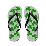 Irish Shamrocks Moss Flip Flops