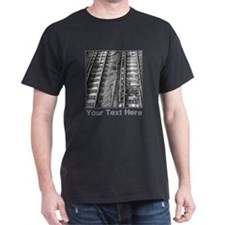 Railroad Tracks. Gray Text. T-Shirt