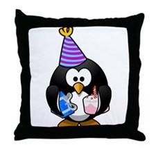 Party Penguin Throw Pillow