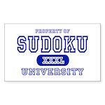 Sudoku University Rectangle Sticker