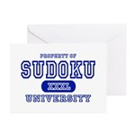 Sudoku University Greeting Cards (Pk of 10)