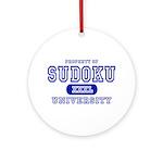 Sudoku University Ornament (Round)