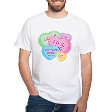 Fun Candy Hearts Personalized Shirt