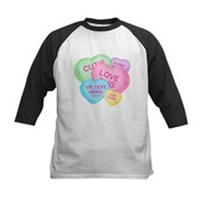 Fun Candy Hearts Personalized Tee