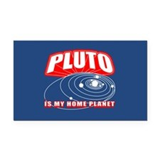 Pluto Is My Home Planet Rectangle Car Magnet