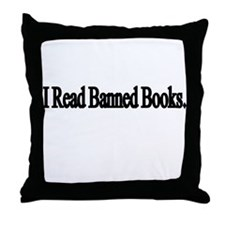 I read banned books Throw Pillow