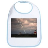stormy lighthouse Bib