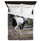 Horse pinto paint Queen Duvet Covers