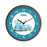 Hoot Owl clock - Anne Wall Clock
