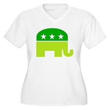 saint patricks dayt elephant Plus Size T-Shirt