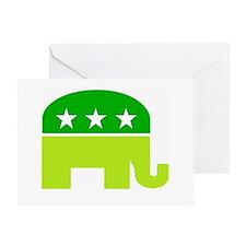 saint patricks dayt elephant Greeting Card