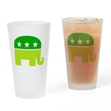 saint patricks dayt elephant Drinking Glass