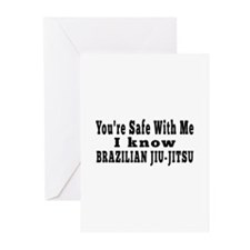 I Know Brazilian Jiu jitsu Greeting Cards (Pk of 2