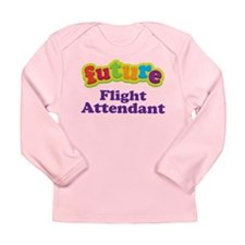 Future Flight Attendant Long Sleeve Infant T-Shirt