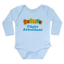 Future Flight Attendant Long Sleeve Infant Bodysui