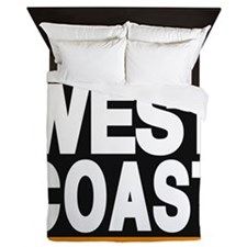 west coast orange Queen Duvet
