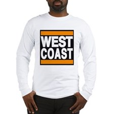 west coast orange Long Sleeve T-Shirt