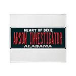 Alabama Arson Investigator Throw Blanket