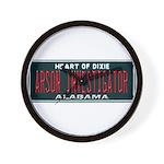 Alabama Arson Investigator Wall Clock