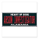 Alabama Arson Investigator Square Car Magnet 3